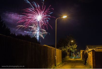 The annual firework display