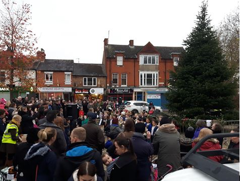 Crowds at the Christmas Songs in The Square