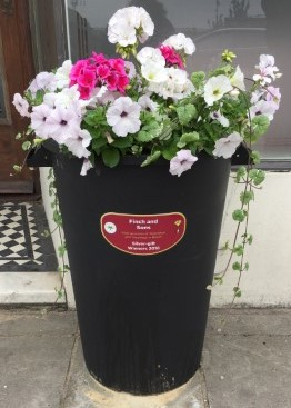Finch and Sons Britain in Bloom Dustbin Donation