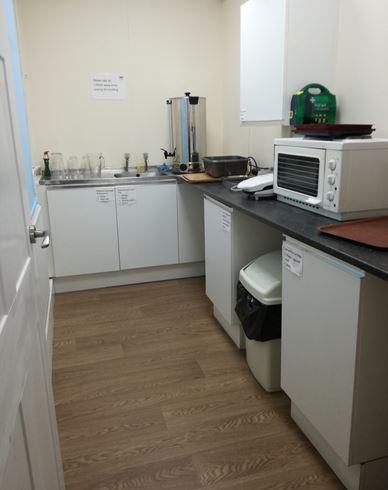 Kitchen area of Hodge Lea Meeting Place