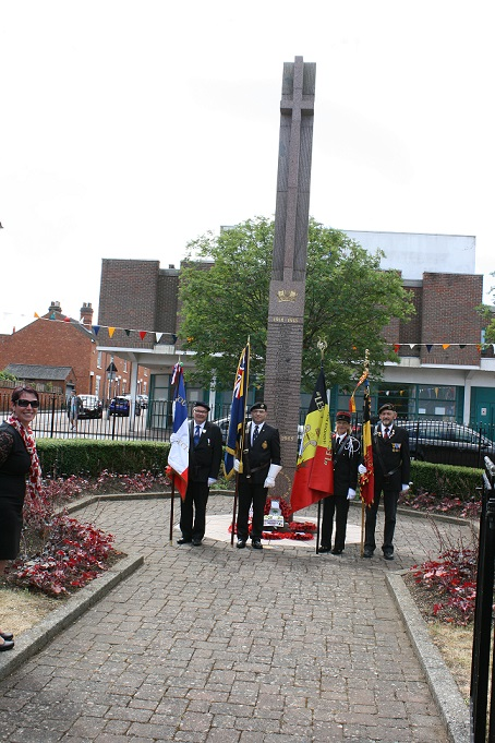Remembrance ceremony at the Memorial in The Square, Wolverton