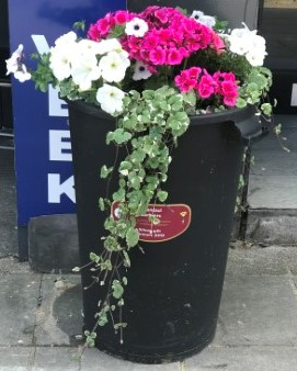 Istanbul Barbers Britain in Bloom Dustbin Donation