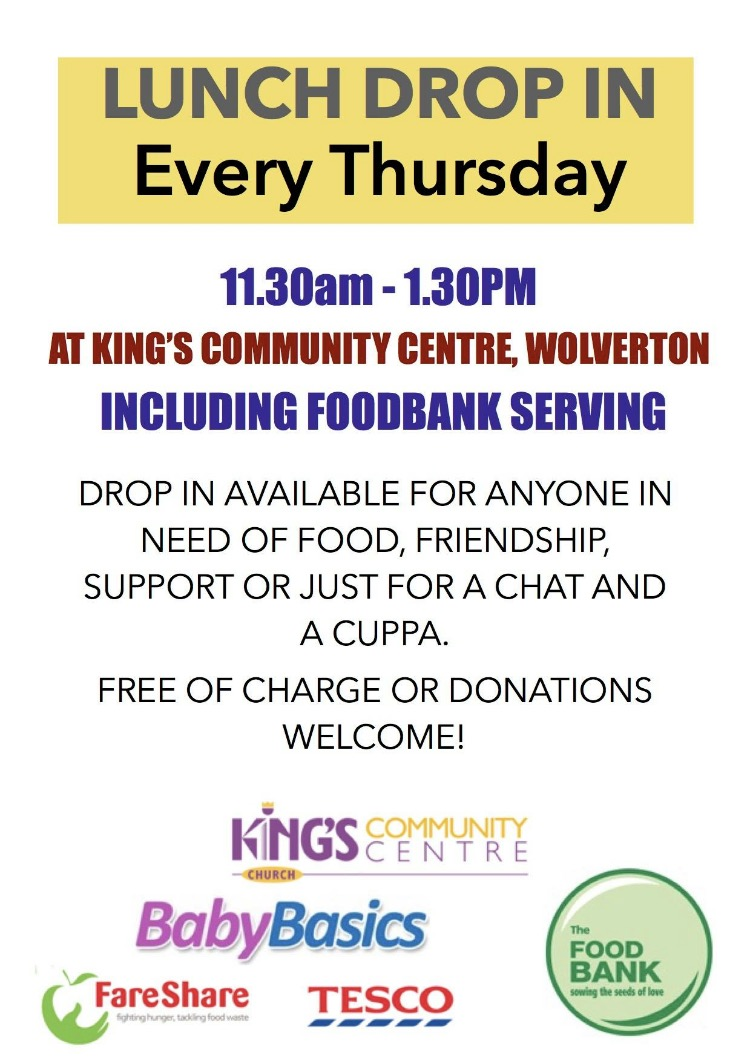 Kings Community Lunch Drop In Poster