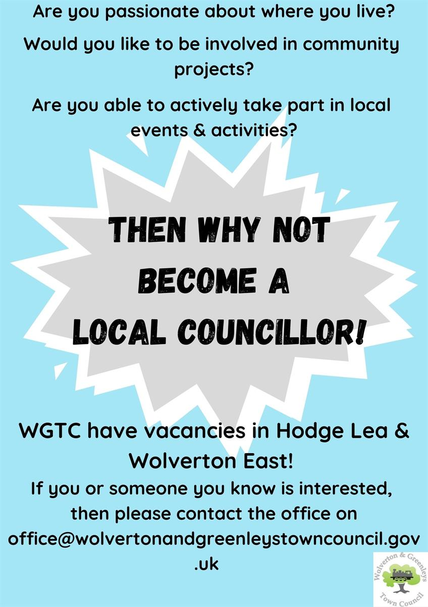 Councillor recruitment poster