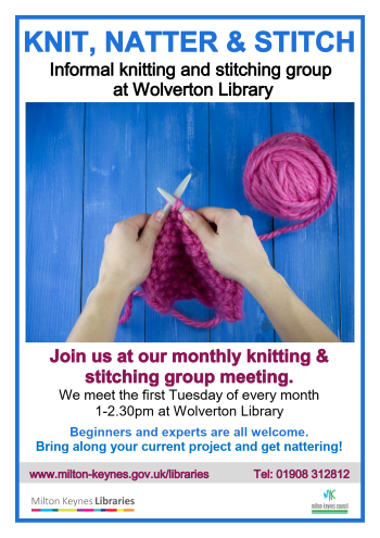 Library Knit, Natter and Stitch Sessions