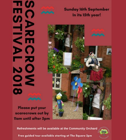 2018 Scarecrow Festival poster.
