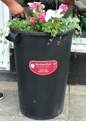 One Stop Clean Britain in Bloom Dustbin Donation
