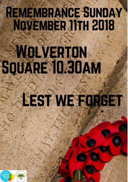 Remembrance Sunday - Wolverton and Greenleys TC