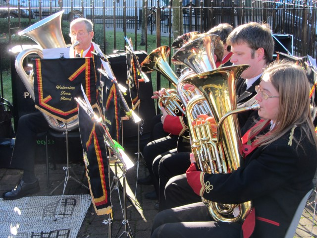 Wolverton Town Band performing