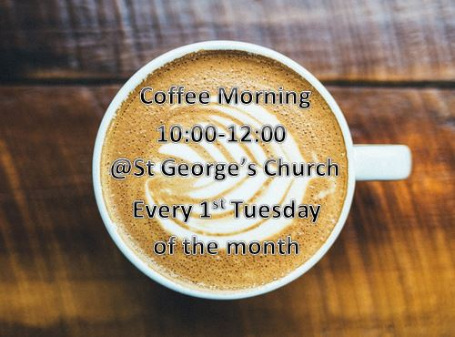 Coffee morning at the church poster