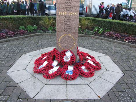 Remembrance service in Wolverton Square