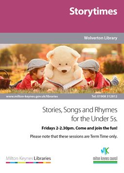 Storytimes at the Library poster